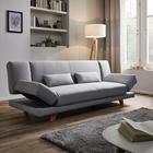 XL Sofa Faith mit Schlaffunktion inkl. Kissen - Hellgrau, MODERN, Holz/Textil (200/73/83cm) - Modern Living