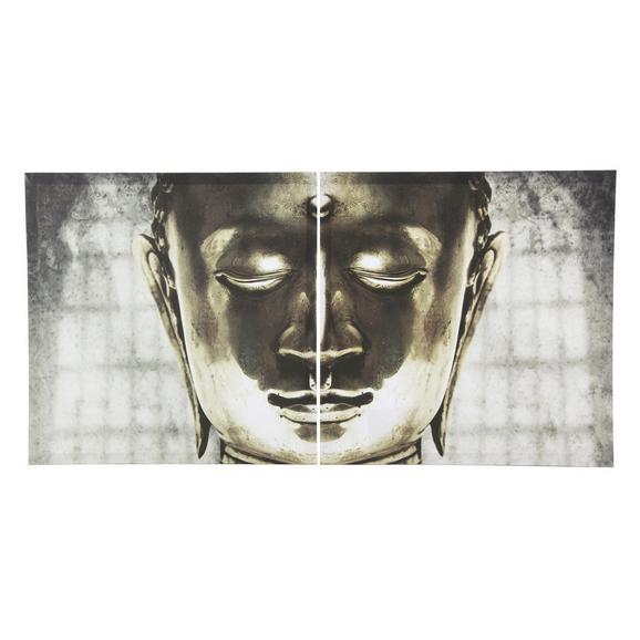 Keilrahmenbild Buddha, 60x60cm - Holz/Kunststoff (60/60cm) - Mömax modern living