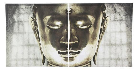Keilrahmenbild Buddha, ca. 60x60cm - Holz/Kunststoff (60/60cm) - Mömax modern living