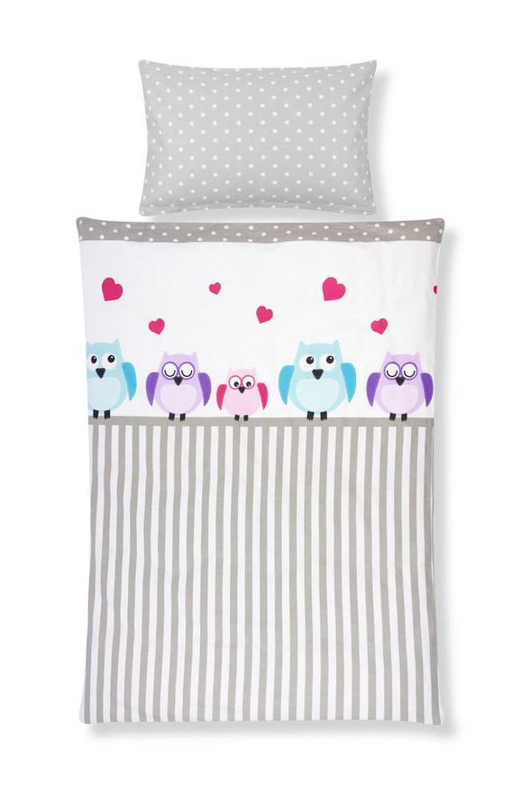 Kinderbettwäsche Marlies ca. 100x135cm - Türkis/Pink, Textil - MÖMAX modern living