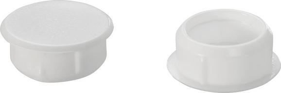 abdeckkappen Elisa in Weiß, 10er Pack. - Weiß, Kunststoff (0.9cm)