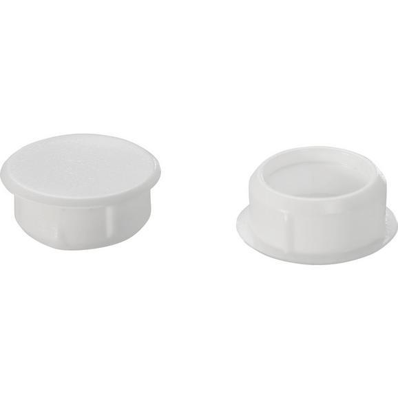 Abdeckkappen Elisa Weiß, 10er Pack - Weiß, Kunststoff (0.9cm)