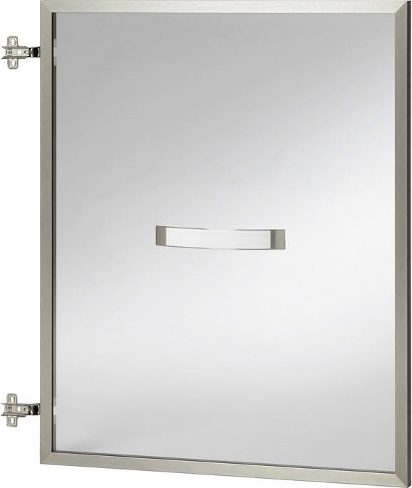 Tür in Champagner/alu - Champagner/Alufarben, MODERN, Glas/Metall (56.6/70.1/2.1cm) - Premium Living
