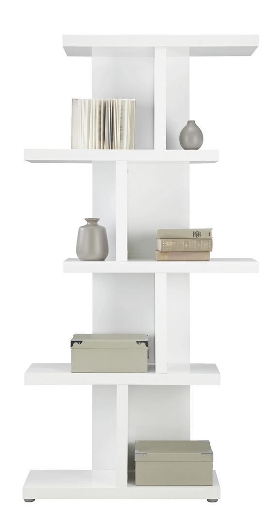 Regal Weiß Hochglanz - Weiß, MODERN, Holzwerkstoff (89,9/184/28cm) - Mömax modern living