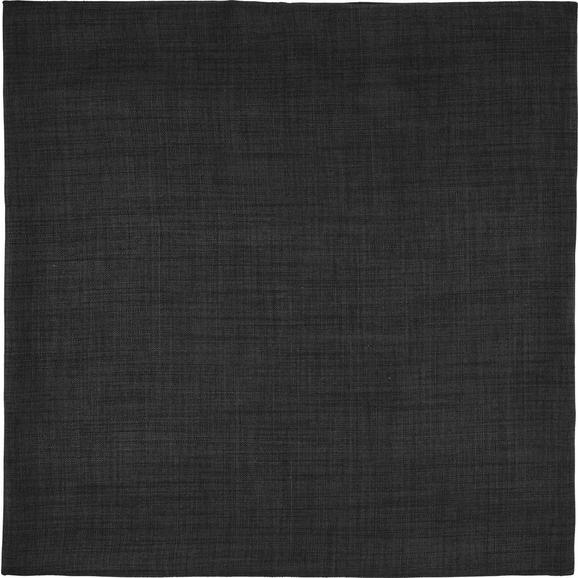 Prevleka Blazine Leinenoptik - temno siva, Konvencionalno, tekstil (60/60cm) - Mömax modern living