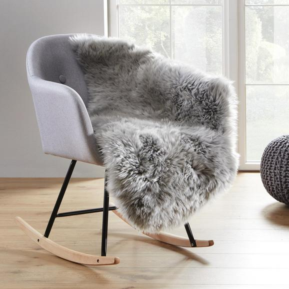 Schaffell in Grau ca.95x60cm 'Mona' - Grau, ROMANTIK / LANDHAUS, Naturmaterialien (95/60cm) - Bessagi Home