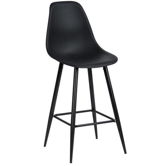 Barski stol BLACKY - črna, Moderno, kovina/umetna masa (45/108/54,5cm) - MÖMAX modern living
