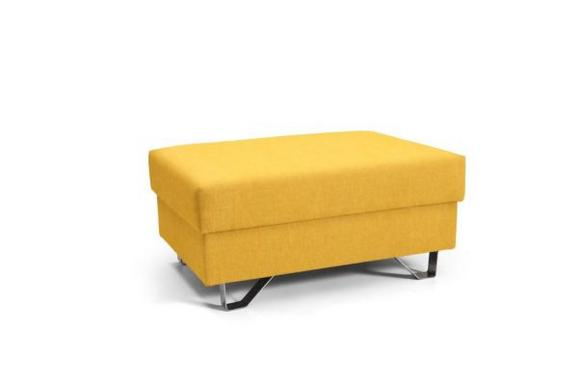 Tabure Mohito - rumena/krom, Moderno, kovina/tekstil (64/43/92cm) - Premium Living