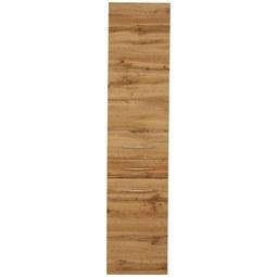 Hochschrank Eichefarben - Chromfarben/Eichefarben, MODERN, Holzwerkstoff/Metall (40/180/35cm)