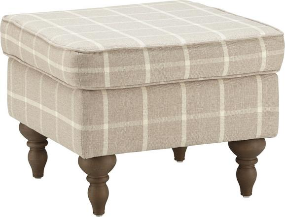 Hocker Beige - Grau, ROMANTIK / LANDHAUS, Holz/Textil (55/44/55cm) - Zandiara