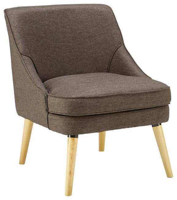 Fotelja Eleonora - prirodne boje/smeđa, Konventionell, drvo/tekstil (64/73/56cm) - Modern Living