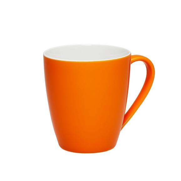 Kaffeebecher Sandy aus Keramik ca. 360ml - Orange, KONVENTIONELL, Keramik (8,9/10cm) - Mömax modern living