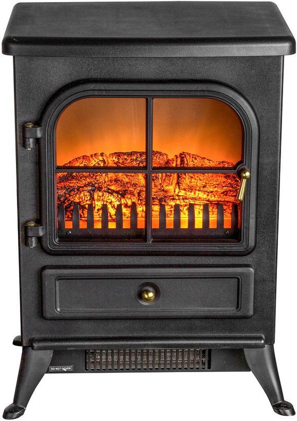 Električni Kamin Mario - črna, kovina (41,5/54/28cm) - Premium Living