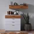 Kommode aus Eiche Massiv - Eichefarben/Schwarz, MODERN, Holz/Holzwerkstoff (90/96/40cm) - Premium Living
