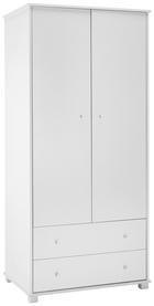 Kleiderschrank Milo - Weiß, MODERN, Holzwerkstoff (80/178/55cm) - Modern Living