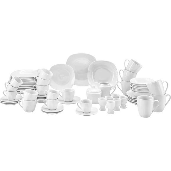 Kombiservice Vera aus Porzellan, 62-teilig - Weiß, KONVENTIONELL, Keramik - Mömax modern living