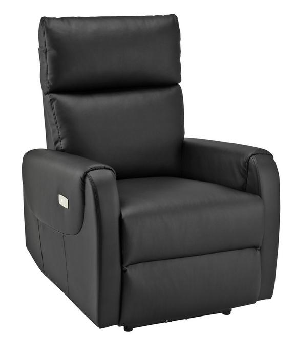 Tv-fotelj Ancona - črna, Moderno, kovina/tekstil - Mömax modern living