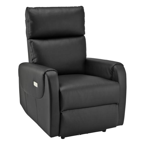 Tv-fotelj Ancona - črna, Moderno, kovina/tekstil (76,5/83-100/86-154,5cm) - Mömax modern living
