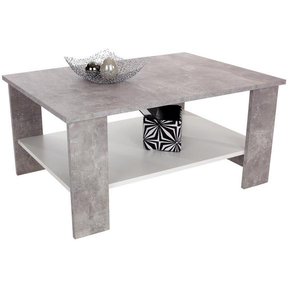 Klubska Miza Paolo - bela/svetlo siva, Konvencionalno, leseni material/les (90/41/55cm) - Modern Living