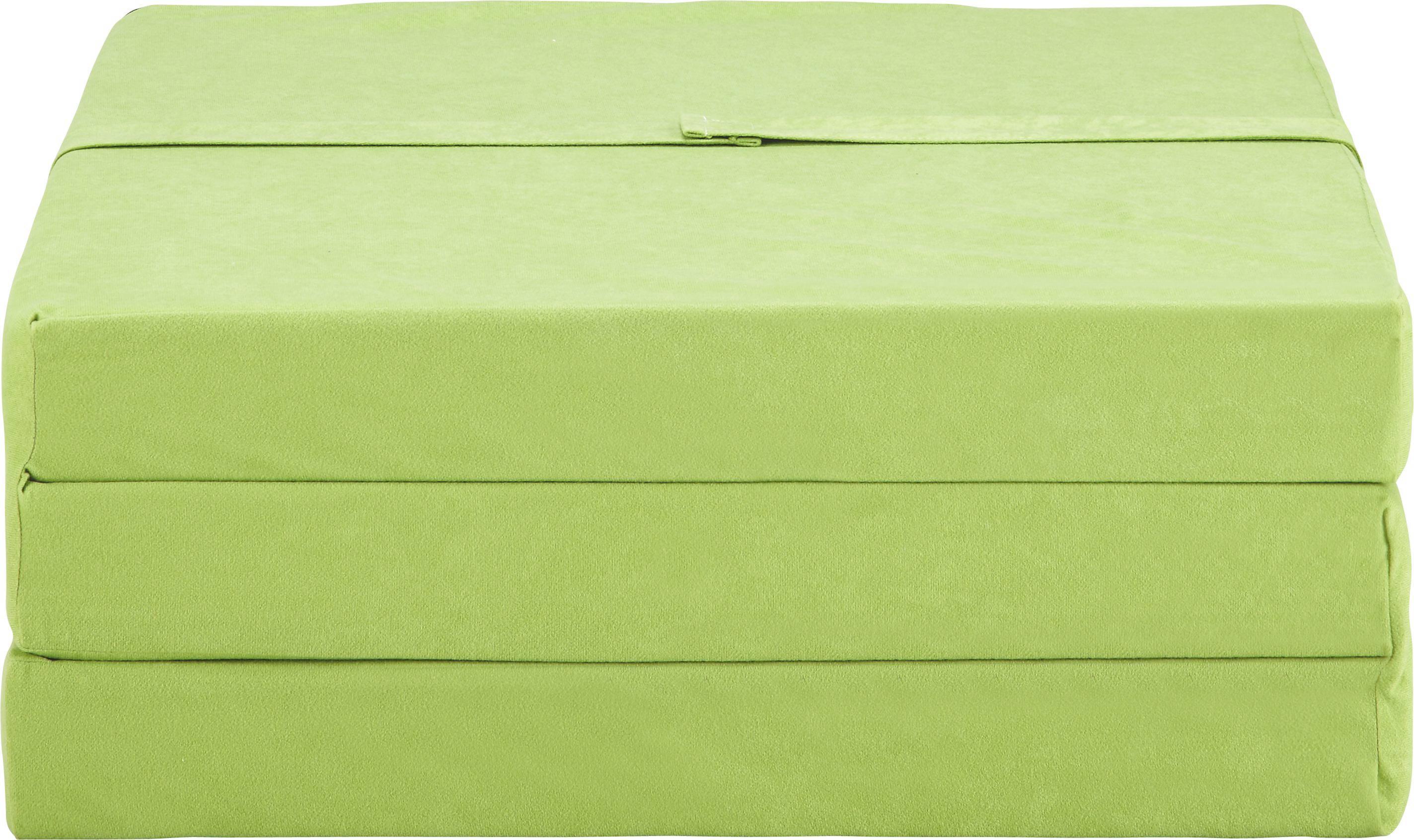 Zložljivo Ležišče Anna - zelena, Moderno, tekstil (185/65/8cm)
