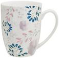 Kaffeebecher Blossoms aus Keramik ca. 350ml - Multicolor, ROMANTIK / LANDHAUS, Keramik (9,10/10,3cm) - Mömax modern living