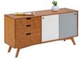 Sideboard Jillian - Ulmefarben/Weiß, MODERN, Holz (120 60 35cm) - Mömax modern living
