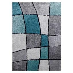 Hochflorteppich Fancy 120x170cm - Türkis/Grau, KONVENTIONELL, Textil (120/170cm) - Mömax modern living