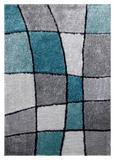 Hochflorteppich Fancy, ca. 120x170cm - Türkis/Grau, KONVENTIONELL, Textil (120/170cm) - MÖMAX modern living