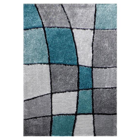 Hochflorteppich Fancy ca. 120x170cm - Türkis/Grau, KONVENTIONELL, Textil (120/170cm) - Mömax modern living