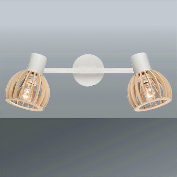 Strahler Fiona max. 15 Watt - Creme, MODERN, Holzwerkstoff (43,4/16,7cm) - Modern Living