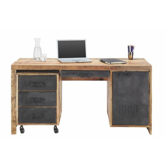 Schreibtisch aus Mangoholz massiv - LIFESTYLE, Holz (150/76/62cm) - Premium Living