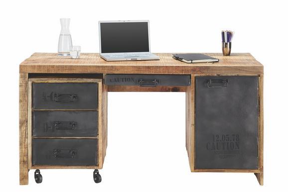 Schreibtisch Mango Massiv - LIFESTYLE, Holz (150/76/62cm) - Premium Living