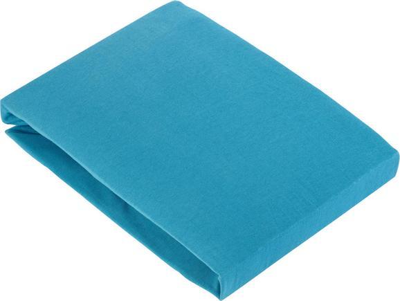 Spannbetttuch Basic In Azur, ca. 180x200cm - Blau, Textil (180/200cm) - MÖMAX modern living