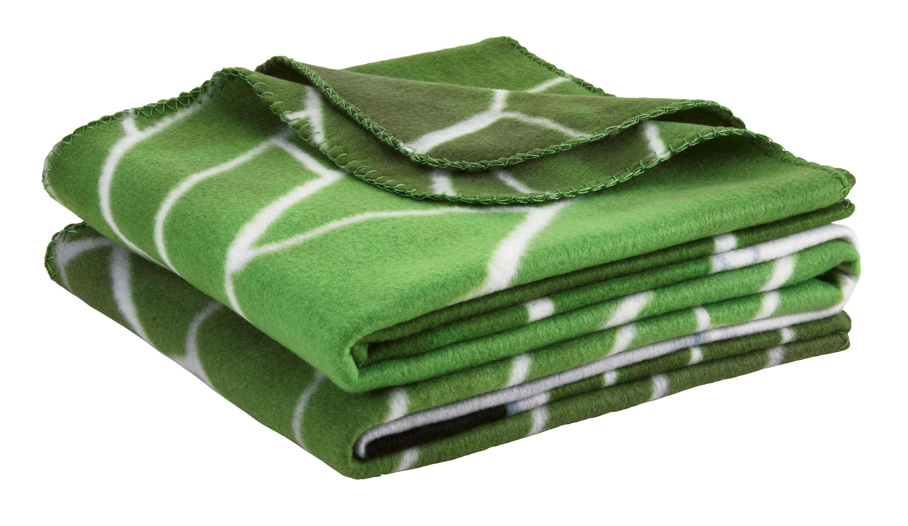 Polár Pléd Tooor - fehér/zöld, textil (140/200cm) - MÖMAX modern living