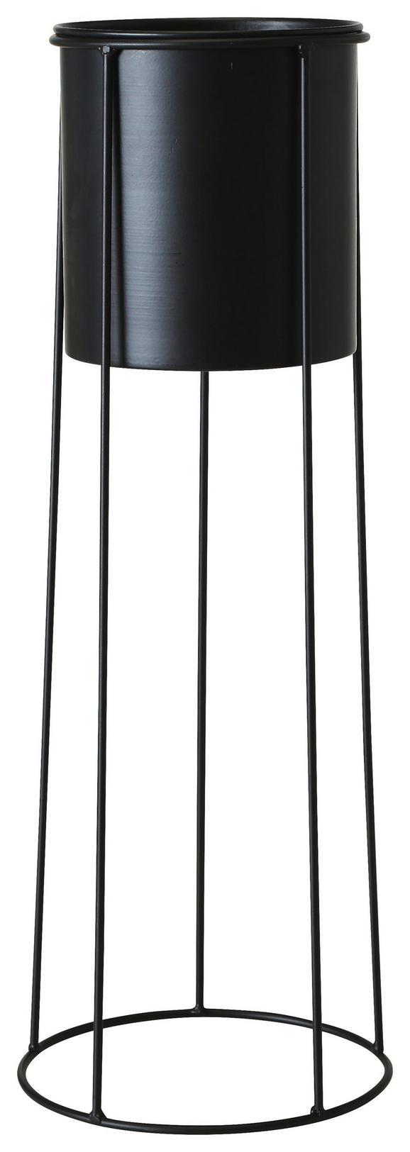 Cvetlični Lonček Bila I - črna, kovina (23/65cm)