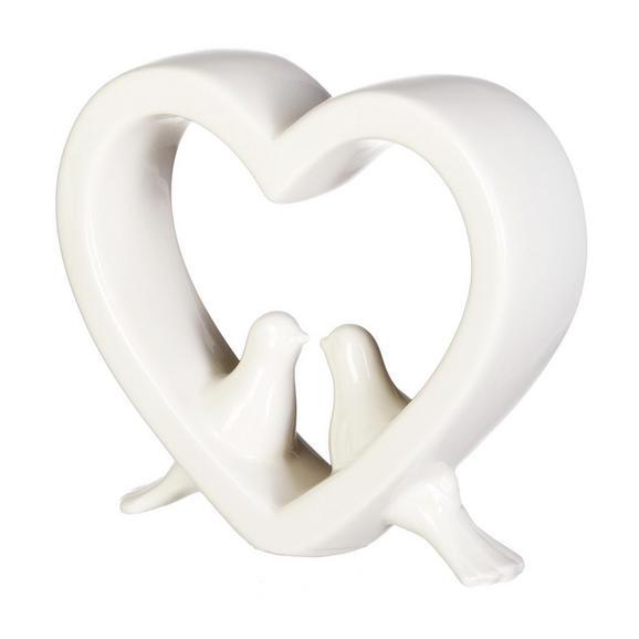 Dekovogel Diana in Weiß - Weiß, ROMANTIK / LANDHAUS, Keramik (10/3/9cm)