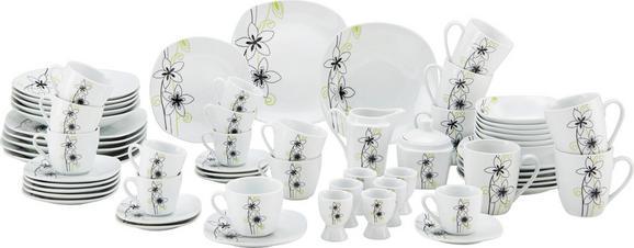 Kombiservice Leonie aus Keramik, 62-teilig - Schwarz/Weiß, KONVENTIONELL, Keramik - Mömax modern living
