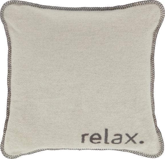 Zierkissen Relax in Grau, ca. 50x50cm - Grau, KONVENTIONELL, Textil (50/50cm) - Premium Living