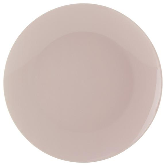 Farfurie Întinsă Sandy - roz, Konventionell, ceramică (26,8/2,42cm) - Modern Living