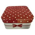Cutie Pentru Cadouri Bow - alb/roșu, Modern, carton/hârtie (16/16/8cm) - modern living