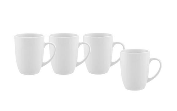 Kaffeebecher Billy Weiß 4 Stück - Weiß, MODERN, Keramik (8,2/10,3cm) - Mömax modern living