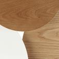 Couchtisch Ryan ca.92,5x64cm - Ulmefarben/Weiß, MODERN, Holz/Metall (92,5/64/50cm) - Mömax modern living