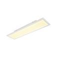 Led Mennyezeti Lámpa Yoko - Opál/Fehér, romantikus/Landhaus, Műanyag/Fém (80/20/6,5cm) - Modern Living