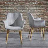 Armlehnstuhl Samantha - Hellgrau, MODERN, Holz/Textil (59/82/65cm) - Mömax modern living