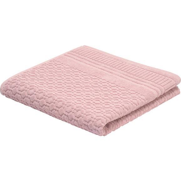 Duschtuch Carina Rosa - Rosa, ROMANTIK / LANDHAUS, Textil (70/140cm) - Mömax modern living