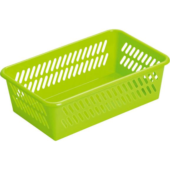 Košara Mimi - svetlo zelena, umetna masa (25,4/7,7/15,9cm) - Mömax modern living