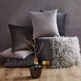 Kissen in Grau 'Elina' ca. 40x40cm - Grau, MODERN, Textil (40/40cm) - Bessagi Home