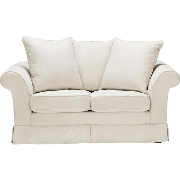 Dvosjed Sofa Fly - tamno smeđa/bež, Romantik / Landhaus, tekstil/drvo (166/71/92cm) - Zandiara