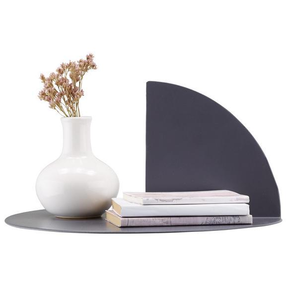 Wandregal Grau aus Metall - Grau, MODERN, Metall (33/16,5/33cm) - Modern Living