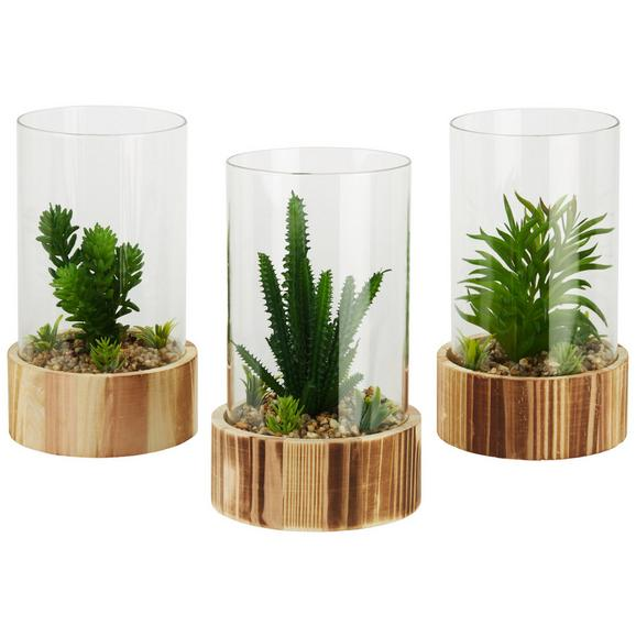Dekoblume Noemi verschiedene Modelle - Basics, Glas/Holz (14/23cm)